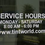Service Hours Sign