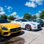 Yellow and White Benz