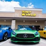Green Benz with Part of Blue Benz